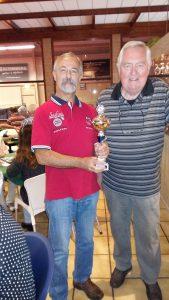Frits en Gilles voor de tweede keer in het bezit van de wisslbeker.